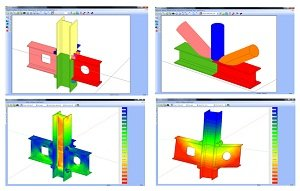Con il nuovo programma STS per il calcolo FEM dei nodi in Acciaio, CDJ Win, si apre una nuova epoca nel calcolo delle giunzioni metalliche.