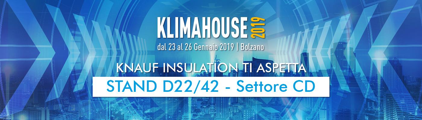 Knauf Insulation a KLIMAHOUSE 2019: sostenibilità e qualità
