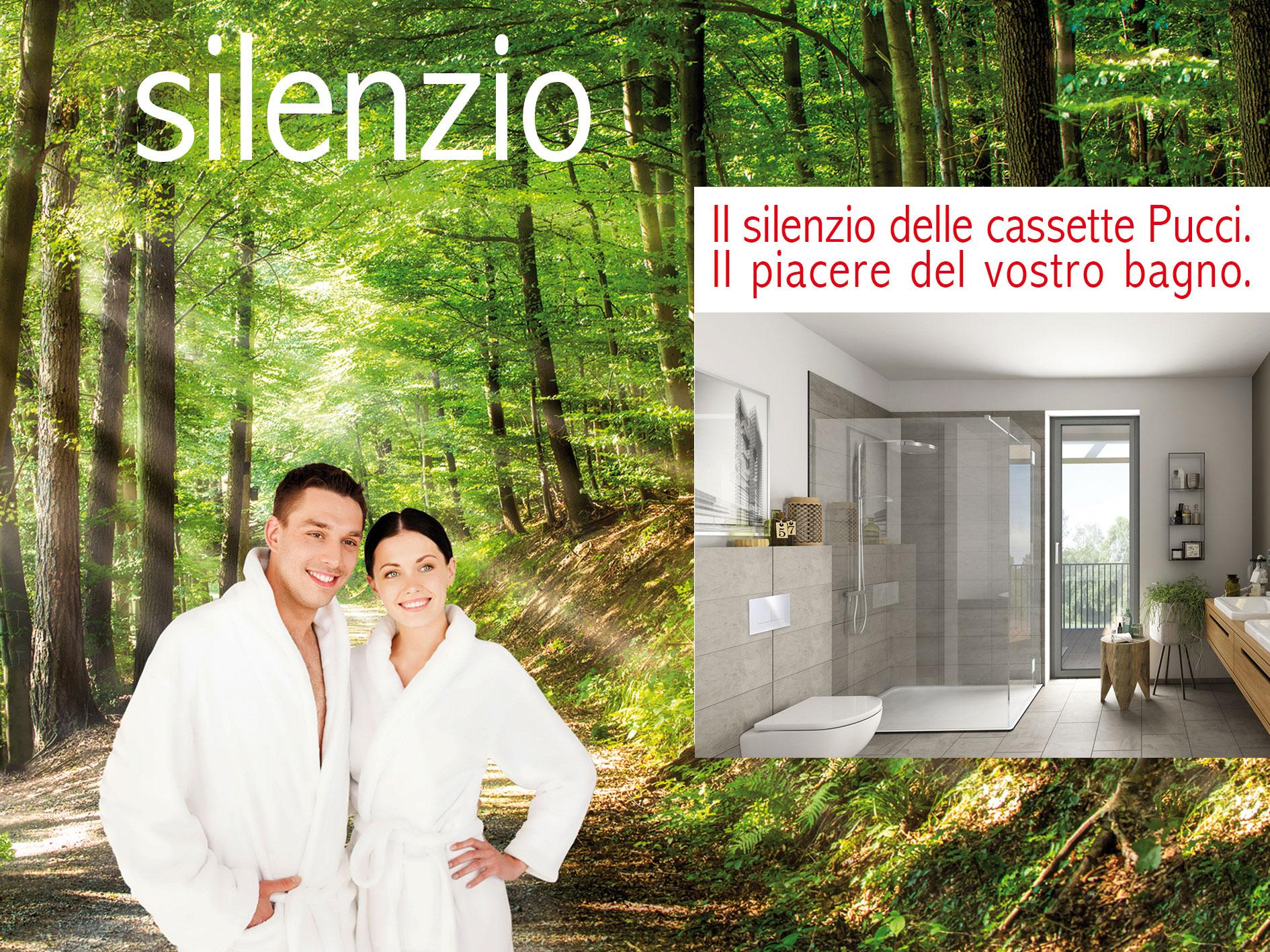 Il silenzio delle cassette Pucci. Il piacere del vostro bagno.