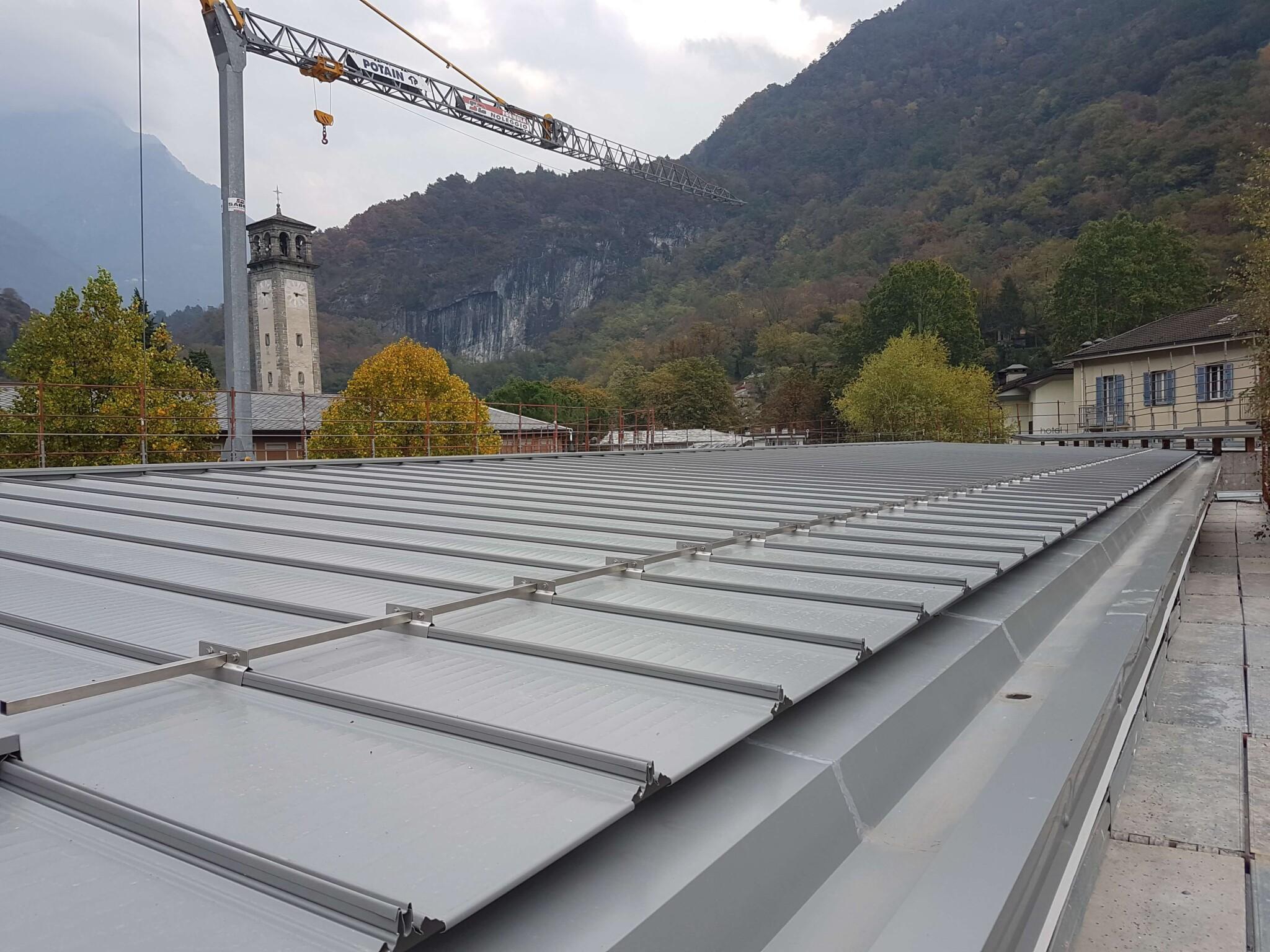 Leggerezza e protezione: il sistema ISOTEC PARETE con rivestimento in metallo.