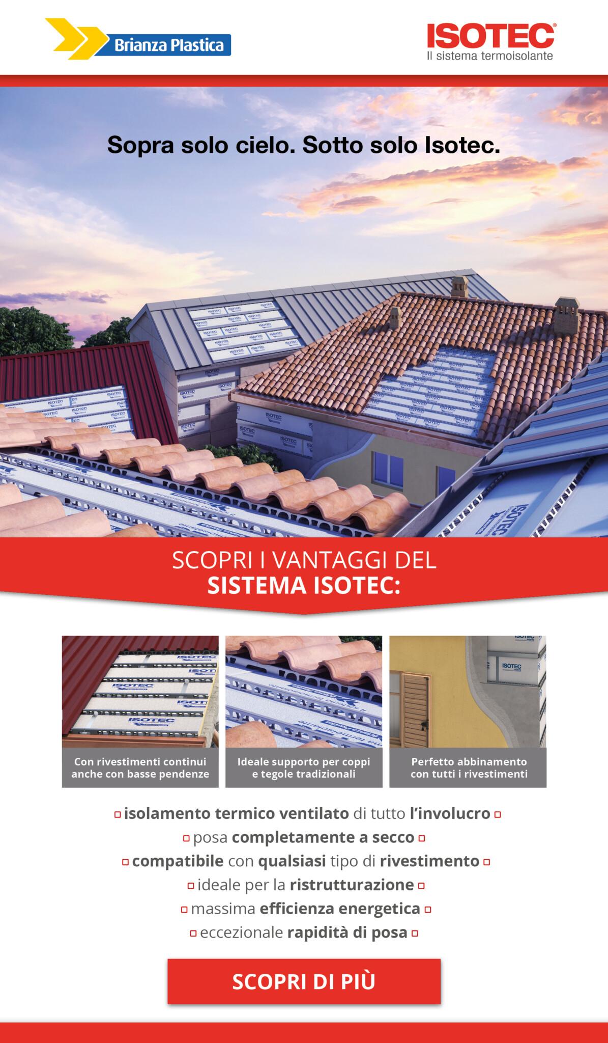 EDILBUILD PRODOTTI: isolamento ventilato ISOTEC ideale con tutti i rivestimenti