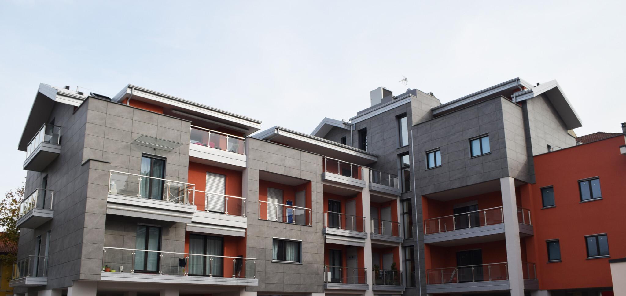 Protezione termica dell'intero involucro per le nuove residenze di Pinerolo in Classe A.