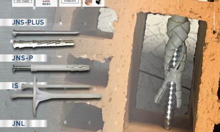 EDILBUILD PRODOTTI: tasselli per materiali forati e isolamento